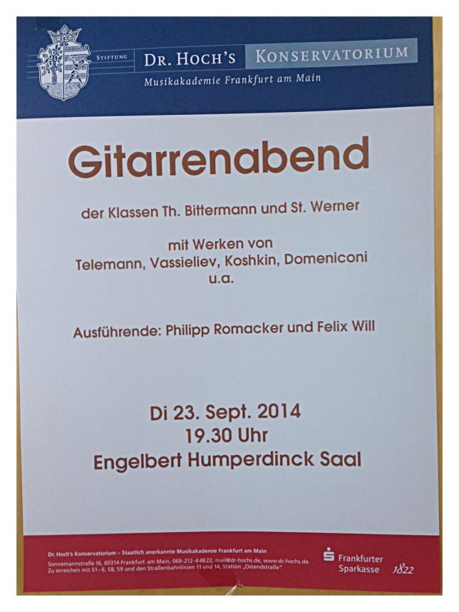 Konzert am 23.9.2014
